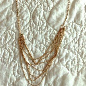 Gold multi-strand necklace